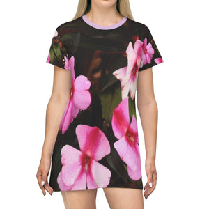 AOP T-shirt Dress - Flowers in Holy Mountain in Carite - Puerto Rico - Yunque Store