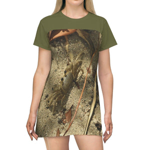 AOP T-shirt Dress - Gilligan Island (mangrove) crab burrows in - Guanica - Puerto Rico All Over Prints Printify