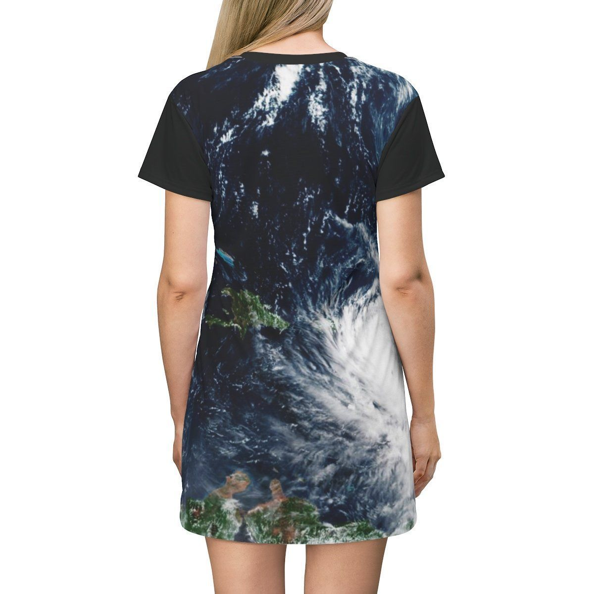AOP T-shirt Dress - Hurricane Maria 150MPH winds approach PR in 9/20/2017 - History All Over Prints Printify