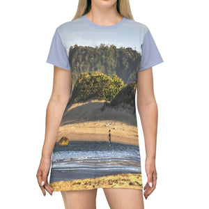 AOP T-shirt Dress - Isabela Sardinera beach - end of road - Puerto Rico - Yunque Store