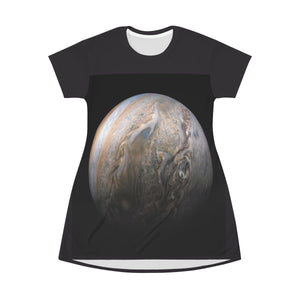 AOP T-shirt Dress - Latest Jupiter images and solar flares - The Macro universe All Over Prints Printify
