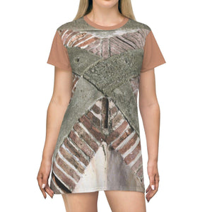 AOP T-shirt Dress - Pattern in El Morro fortress - Old San Juan - Puerto Rico All Over Prints Printify