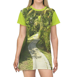 AOP T-shirt Dress - Pterocarpus (coast swamp) forest in Palmas del Mar - Puerto Rico - Yunque Store