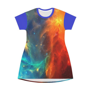 AOP T-shirt Dress - Schizo Nebula - NASA Hubble image - The Macro Universe All Over Prints Printify