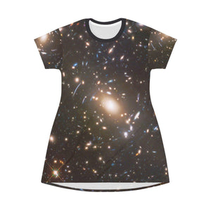 AOP T-shirt Dress - The awesome DEEP FIELD - a huge ancient cluster of GALAXIES - The Macro universe All Over Prints Printify