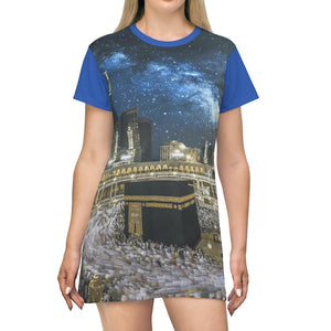 AOP T-shirt Dress - The Blessed Great Mosque of Mecca - UAE - Islam - Yunque Store