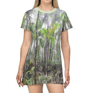 AOP T-shirt Dress - The Cloud Forest of El Yunque rainforest before Hurr. Maria - Puerto Rico - Yunque Store