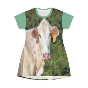 AOP T-shirt Dress - The curious Cow - Puerto Rico All Over Prints Printify