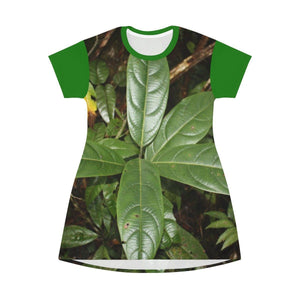 AOP T-shirt Dress - The dense undergrowth before Hurricane Maria in El Yunque PR All Over Prints Printify