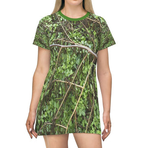 AOP T-shirt Dress - The dry branch of a Fern Palm and foliage below - Toro Negro - Puerto Rico - Yunque Store