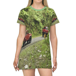 AOP T-shirt Dress - The highest road - the Toro Negro PR 143 road - Puerto Rico - Yunque Store