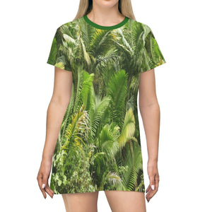 AOP T-shirt Dress - The highest road - the Toro Negro PR 143 road - The Sierra palm forest - Puerto Rico - Yunque Store