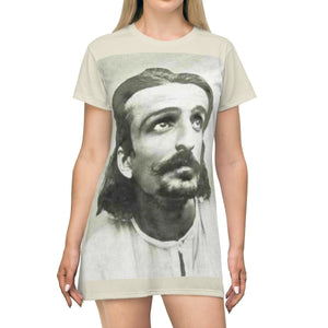 AOP T-shirt Dress - The Silent Avatar Meher Baba - Islam All Over Prints Printify