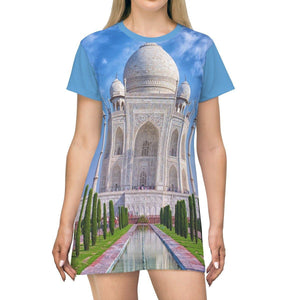 AOP T-shirt Dress - The top Islamic Art jewel - Taj Majal - India All Over Prints Printify