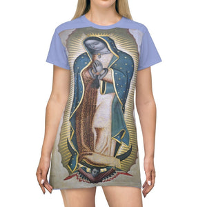 AOP T-shirt Dress - The Virgin of Guadalupe - Mexico - Yunque Store
