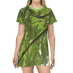 AOP T-shirt Dress - The Yagrumo tree leaf - Toro Negro - Puerto Rico - Yunque Store