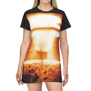AOP T-shirt Dress - US Hydrogen bomb 1954 Castle bravo - In Bikini Atoll - Tech History All Over Prints Printify