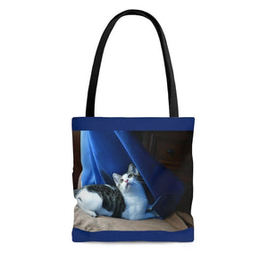 AOP Tote Bag - Tropical Pets Series - The home baby cat Dante - Isabela Puerto Rico - Yunque Store