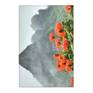 Area Rugs - Awesome view of Yokahu tower after storm - El Yunque rainforest PR Home Decor Printify
