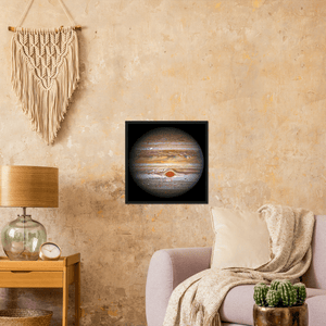 ASTRO-FANS - Classic Matte Paper Wooden Framed Poster - Hubble looks at JUPITER with awesome vision - NASA HUBBLE space telescope - Yunque Store