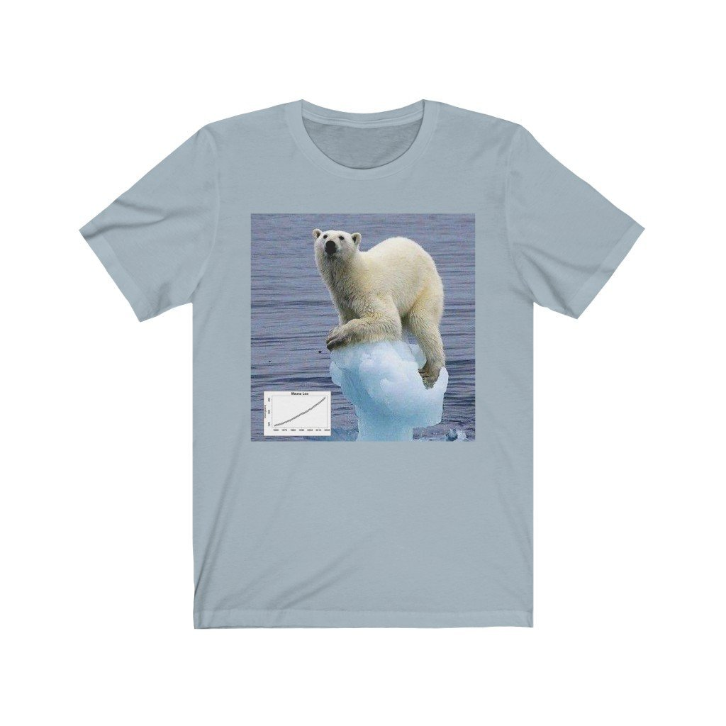 Awesome Bella+Canvas 3001 - USA Made in 1 Day - Unisex Jersey Short Sleeve Tee - Global Warming in action as the Polar regions melt FAST! - Yunque Store