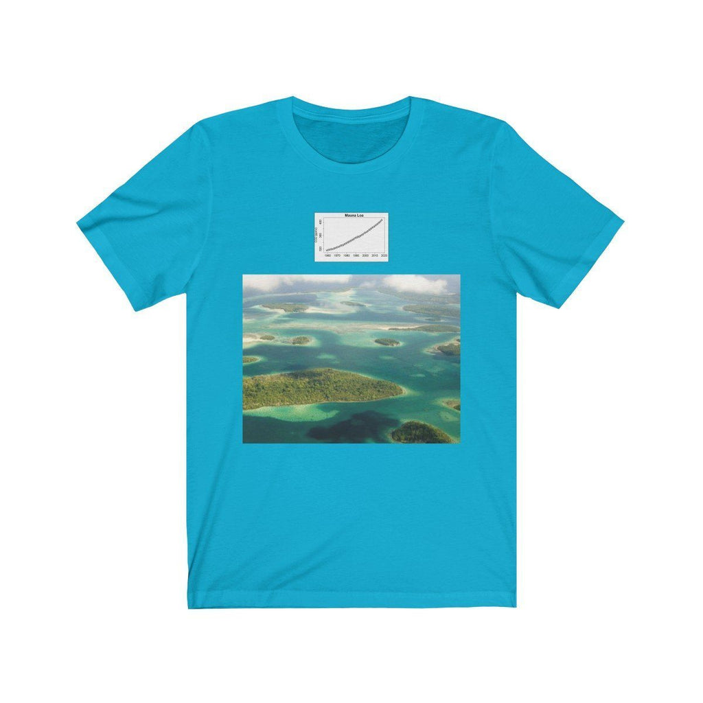 Awesome Bella+Canvas 3001 - USA Made in 1 Day - Unisex Jersey Short Sleeve Tee - Global Warming in action as the Polar regions melt FAST. Five of the Solomon Pacific islands (front) has been lost under rising sea levels! T-Shirt Printify