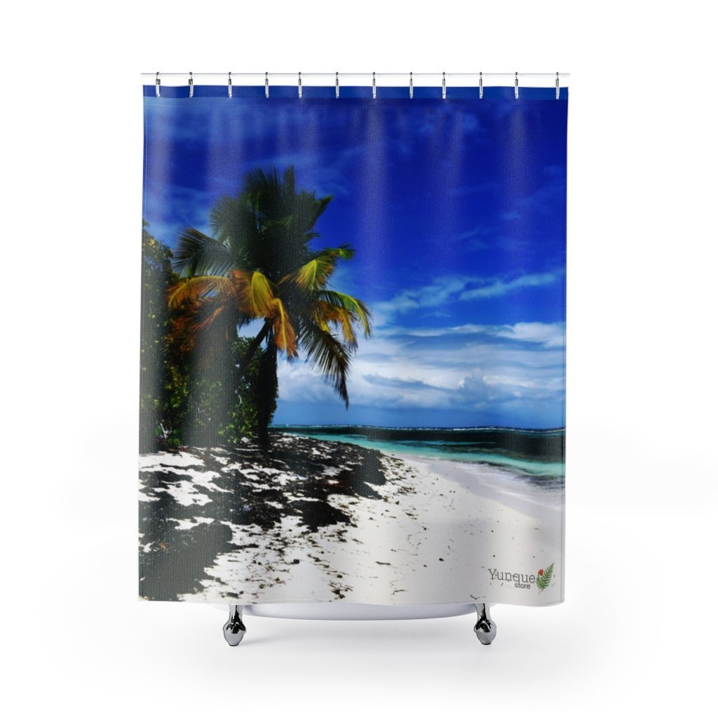 Awesome DEAL - Shower Curtains - UNIQUE & PRISTINE - New Mona Island Images - remote 7x7 km island 50 miles from Puerto Rico - Yunque Store