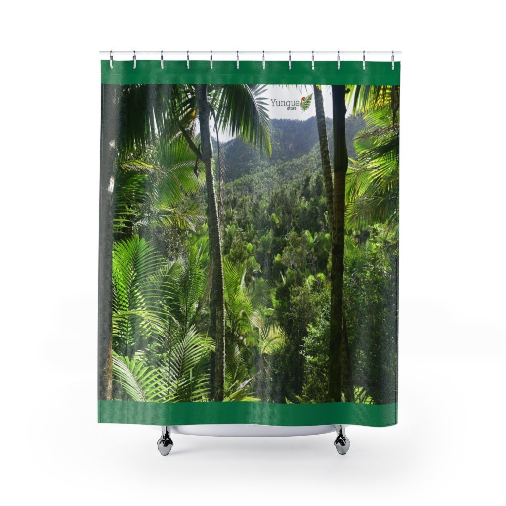 AWESOME Shower Curtains - Bring home the most remote, rarely seen, regions of the rainforest in Puerto Rico - Yunque Store
