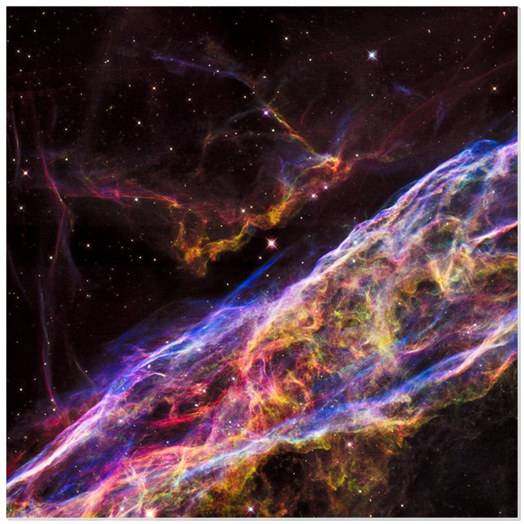 Acrylic Prints - VEIL NEBULA SUPERNOVA REMNANT -  expanding remains of a massive star that exploded about 8,000 years ago Hubble telescope