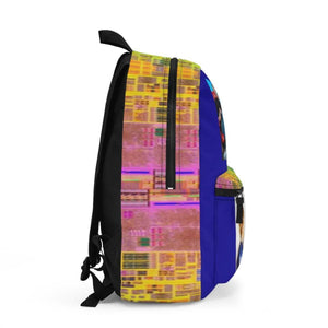Backpack (Made in USA) - Bill Gates 1977 Police speeding mug shot and Gates and Jobs in tech conference in 2007 - I7 Intel cpu in edges Bags Printify