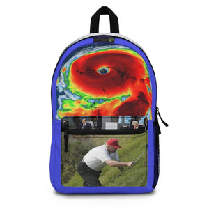 Backpack (Made in USA) - Dorian pounds the east coast as Trump plays golf - monitoring the storm? Empty chair at G7 on climate change - Is Trump skipping a world-class school? Bags Printify