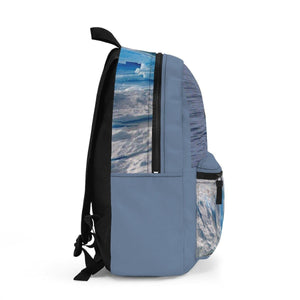 Backpack (Made in USA) - The Ice Poles are melting FAST - rising the sea level. Help that Bear! Bags Printify