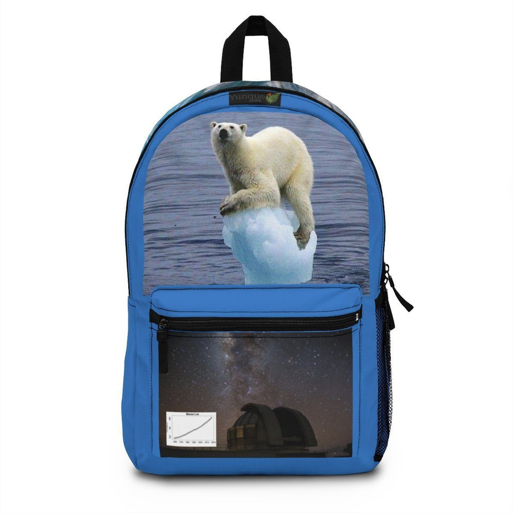 Backpack (Made in USA) - The Ice Poles are melting FAST - rising the sea level. Help that Bear! The Mouna Loa observatory at night Bags Printify