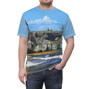 Bargain - Unisex AOP Cut & Sew Tee - Awesome Mona Island flat 7x5 miles island off Puerto Rico - Yunque Store