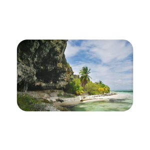 Bath Mat - Awesome pajaros beach next to cave - Mona island PR - Yunque Store