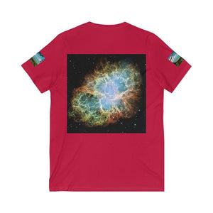 Bella+Canvas - Unisex Jersey Short Sleeve V-Neck Tee - Printed in Germany by Textildruck Europa - Awesome astronomy images - Yunque Store