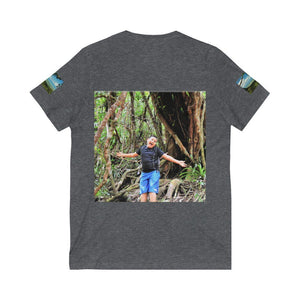 Bella+Canvas - Unisex Jersey Short Sleeve V-Neck Tee - Printed in Germany by Textildruck Europa - El Yunque Rainforest - Puerto Rico - Yunque Store