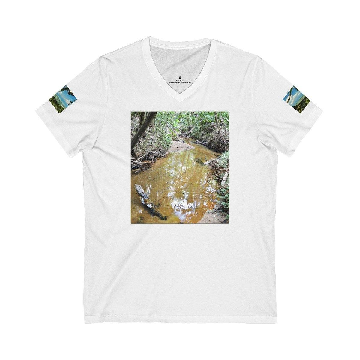 Bella+Canvas - Unisex Jersey Short Sleeve V-Neck Tee - Printed in Germany by Textildruck Europa - El Yunque Rainforest - Puerto Rico V-neck Printify