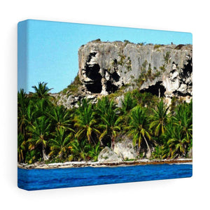 Breathtaking Mona Island off Puerto Rico - the Galapagos of the Caribbean - Thrilling Pajaros beach Canvas Printify