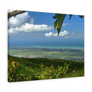 Breathtaking View at 3,175 feet altitude from Tres Picachos peak of the eastern Coastline - in El Yunque rainforest Puerto Rico - Historic image before Hurricane Maria decimated the forest canopy in 2017 - with 140 MPH winds for 12 hours! - Yunque Store