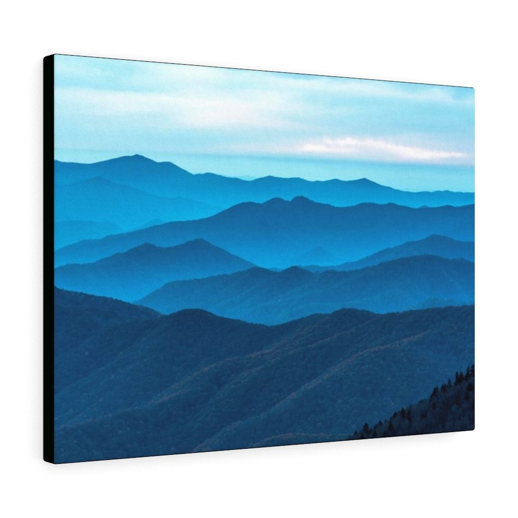 Canvas Gallery Wraps - Sunset at Clingmans Dome at 6,643 feet - the top of the world here - in Smoky Mountain National Park in Summer in Mountain National Park (SMNP) USA - Yunque Store