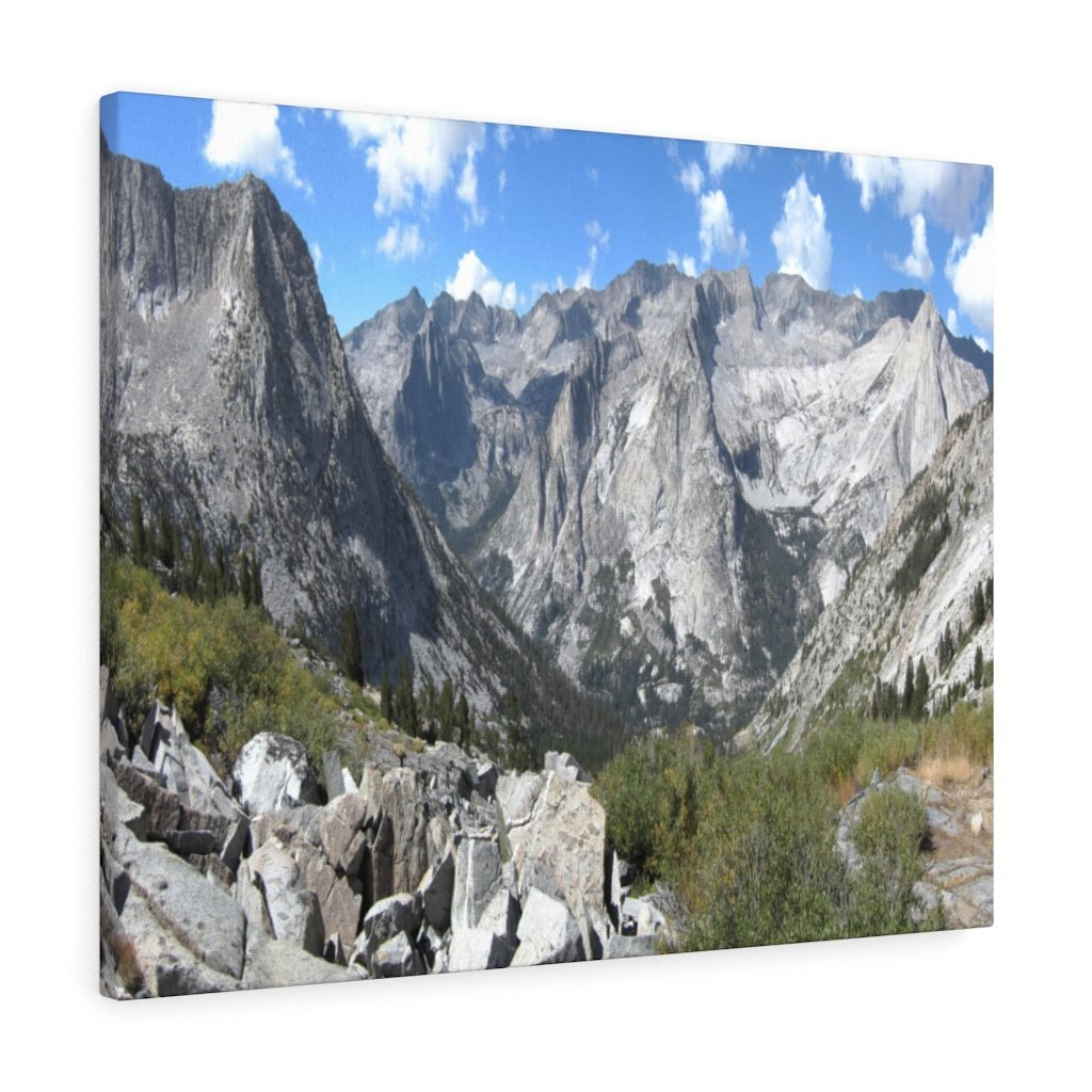 Canvas Gallery Wraps - The US National Parks - Yosemite, Kings Canyon and Sequoia parks - Section of John Muir Trail 210 miles - California - USA NPS - Yunque Store