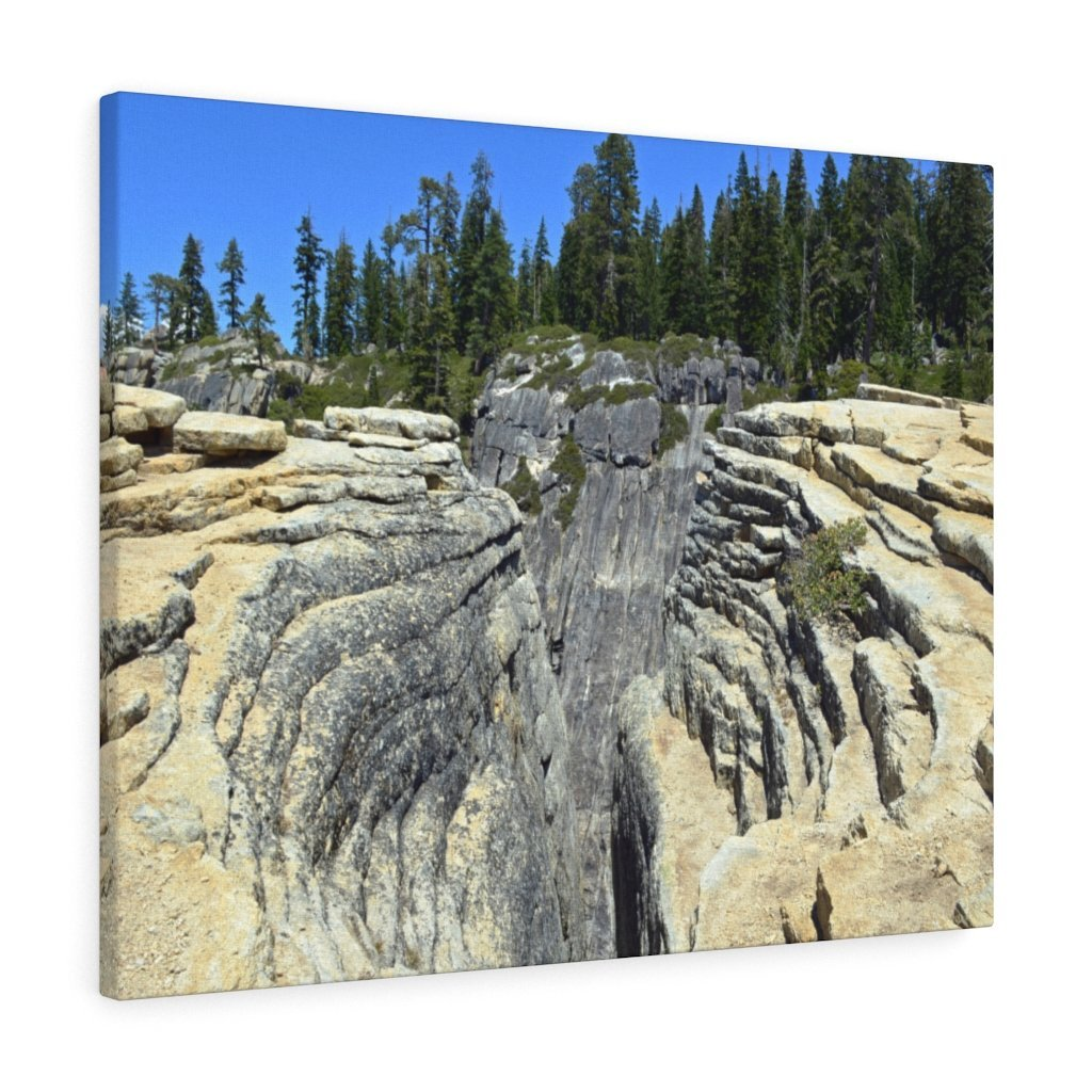 Canvas Gallery Wraps - The US National Parks - Yosemite Park Taft Point fissures - California - USA NPS - Yunque Store