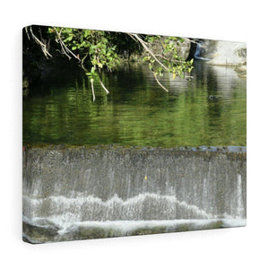 Canvas Gallery Wraps - US Made - CG Pro Prints in 2 days - Rio Sabana - El Yunque exploration on Sep 2019 - Rio Cubuy AAA dam before flodding Canvas Printify