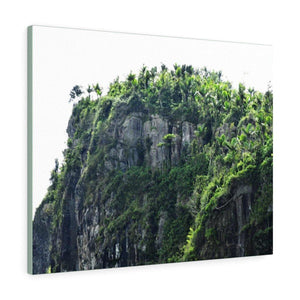 Canvas Gallery Wraps - Views of El Yunque - peak sandblasted by 145 mph winds of Hurricane Maria in 2017 Canvas Printify