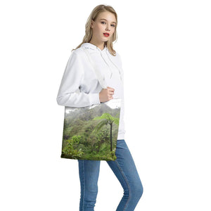 Canvas Tote Bag - High Mountain and Fern Palm awesome view - Toro Negro rainforest Park Over 4,000 feet altitude - Highest in Puerto Rico - Yunque Store
