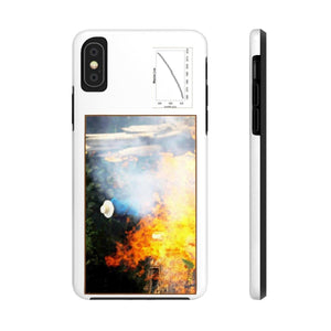 Case Mate Tough Phone Cases - Mouna Loa CO2 (Keeling curve) and Fires in the Amazon run wild due to Global warming and dirty politics Phone Case Printify