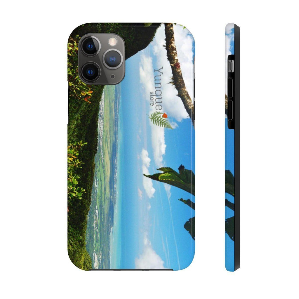 Case Mate Tough Phone Cases - View of El Yunque rainforest Puerto Rico from 3K feet of the east coastline Phone Case Printify