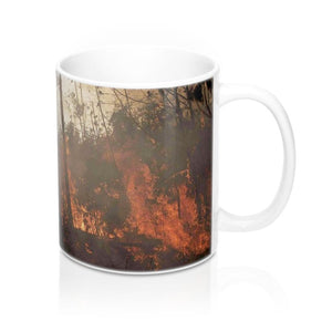 Ceramic Mug 11oz - Fires in the Amazon forest intensify due to Global warming - made in USA - Yunque Store