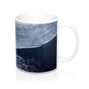 Ceramic Mug 11oz - Ice Poles melting due to Global warming - made in USA Mug Printify